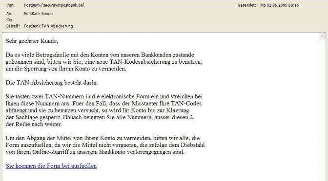 Postbank TAN-Absicherung