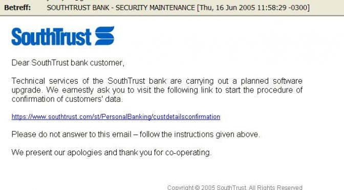 *SOUTHTRUST BANK – Security Maintenance