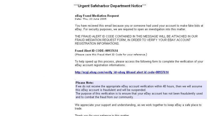*Urgent Safeharbor Department Notice