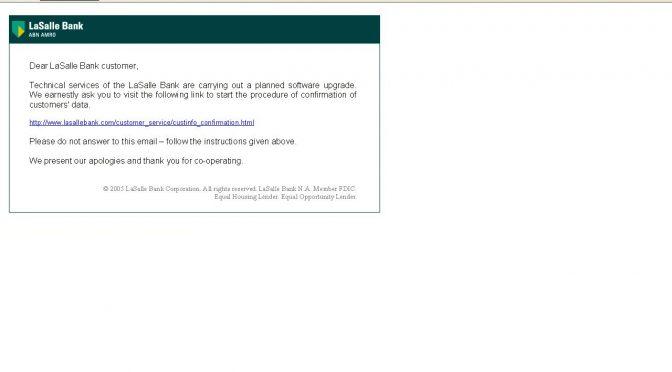 Urgent Notice From LaSalle Bank BiIIing Department
