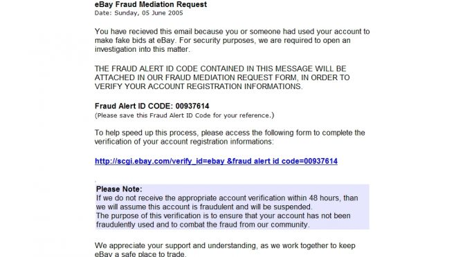 eBay Fraud Mediation Request