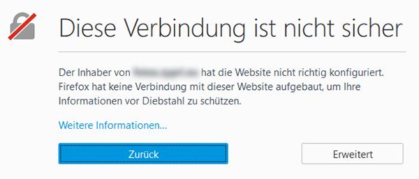 SSL Fehlermeldung
