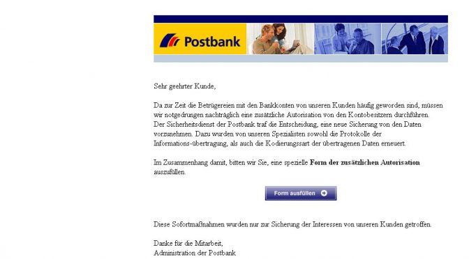 *Postbank Security Issue