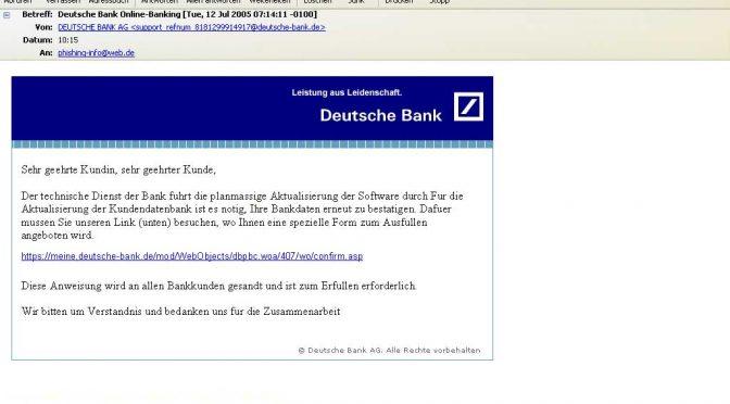 Deutsche Bank Online-Banking