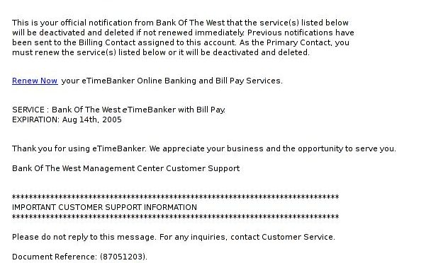*eTimeBanker Bill Pay Service