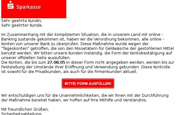 Sparkasse Security Issue