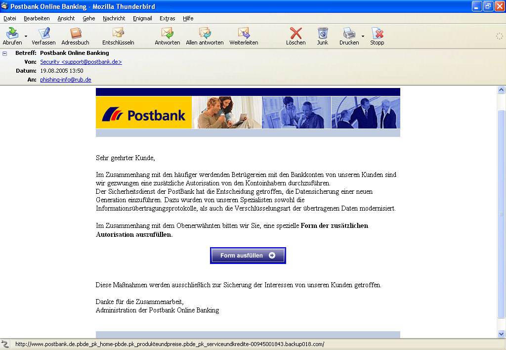 postbank online banking de
