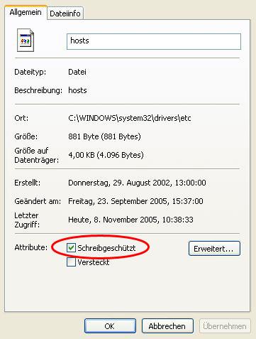 hosts-Datei
